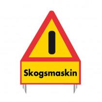 VARNINGSSTÄLL SKOGSMASKIN