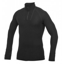 Zip Turtleneck Lite, Unisex, Black
