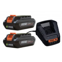 Echo Batteripaket 2A x 2 batteri + laddare 50V