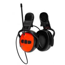 Hörselskydd med FM-radio, Hjälmburet